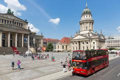 BERLIN, GERMANY - JULY 25:  A sightseeing bus with tourists is visiting the G Stock Photos