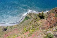 Top view from Gabo Giraol at Madeira Island, Portugal Stock Photos