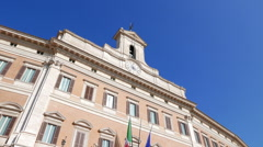 Palazzo Montecitorio. Rome, Italy  Stock Footage