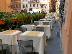 Tables in the cafe. Rome, Italy  - stock footage