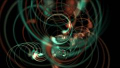 Stock Video Footage of Abstract spiral curl curve,stripes swirl lines,cyclones wind tunnel neon.