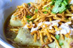 Khao soi - Traditional Thai Food Stock Photos