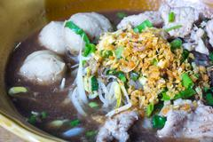 Thai style classic boat noodle Stock Photos