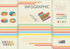 Stock Illustration of Infographic showing the statistics of people