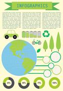 Infochart showing the planet Earth - stock illustration
