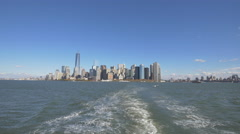 Panoramic view of downtown New York Stock Footage