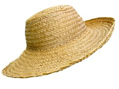 Handmade straw hat Stock Photos