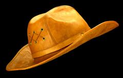 Cowboy Hat - Black background Stock Photos