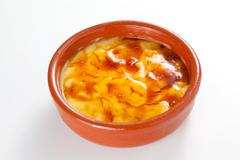 crema catalana delicious typical Spanish dessert - stock photo