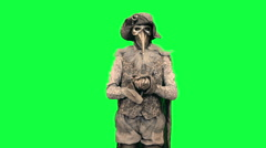 Living statue as Libra Man Chromakey - stock footage