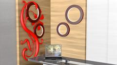 modern home interior - stock illustration