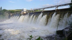 Shooting perspective Mill Dam Stock Footage