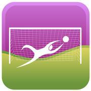 Football goalkeeper Stock Illustration