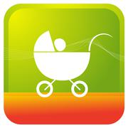 Baby cradle Stock Illustration