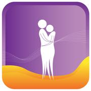 Couple hugging Stock Illustration