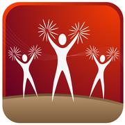 Cheer leaders Stock Illustration