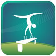 Stock Illustration of gymnastics postures