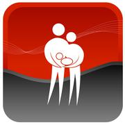 Couple with new born baby Stock Illustration