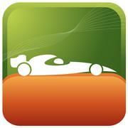 f1 car racing - stock illustration