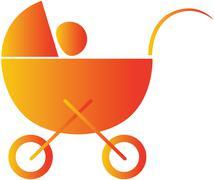 baby walker - stock illustration