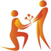 propose flowers love - stock illustration