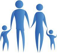 family unity - stock illustration