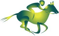 Jockey, horse riding Stock Illustration