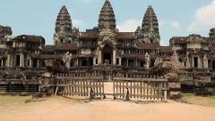 Angkor Wat temple in Cambodia Stock Footage