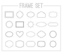 Frame set with laurels,ribbons and crowns Stock Illustration