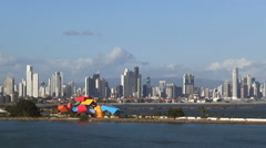 Panama City at Sea - stock footage