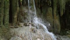 Waterfall in Erawan National Park in Thailand Stock Footage