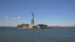 Stock Video Footage of Amazing view of the Statue of Liberty New York City in 4K