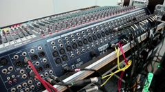 Audio production console sockets Stock Footage