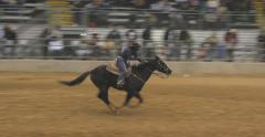 African American Cowgirl Barrel Racing Stock Footage