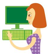 Internet generation Stock Illustration