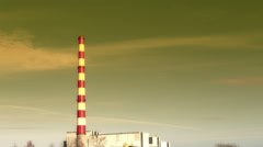 Chimney of thermal power plants - stopmotion footage 1080P 30fps Stock Footage