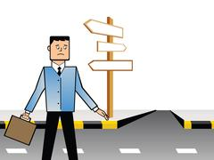 business confusion - stock illustration
