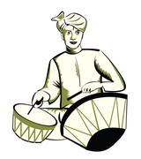 Indian performer Stock Illustration