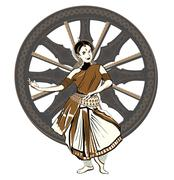 indian dance performer - stock illustration