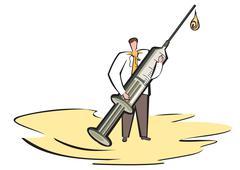 syringe treatment - stock illustration