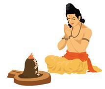 religious prayers - stock illustration