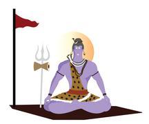 Lord shiva Stock Illustration