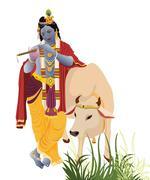 Lord krishna Stock Illustration