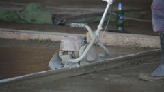 concrete flattening machine - stock footage