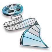 Movie reel Stock Illustration