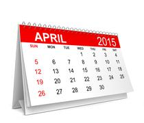 2015 Calendar. April Stock Illustration