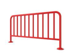 Metal barrier - stock illustration