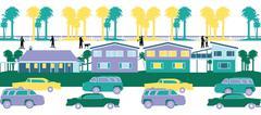 Housing society Stock Illustration