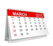 2015 Calendar. March - stock illustration