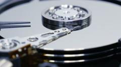 Hard Disk Drive Track Shot 02 4K Stock Footage